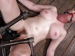Helpless riley nixon enjoys hard metal bondage