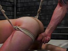 bdsm, whipping, rope bondage, face fuck, prison, electric wand, tattooed, bound gods, kink men, cliff jensen, michael del ray