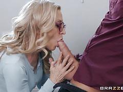 milf, blonde, handjob, mature, seduction, deepthroat, caught masturbating, ball sucking, mommy got boobs, brazzers, nina hartley, xander corvus