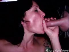 Real gloryhole cum in mouth
