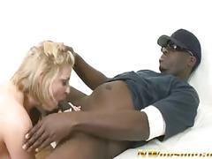 Blonde milf sucks and fucks a big black cock interracial sex