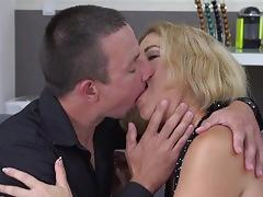 Small tits blonde milf and her lover