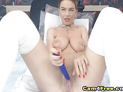 Cute blonde shows pussy on cam