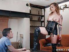 Kinky french mistress came into the wrong house