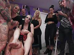milf, feet, facial, big tits, babe, public, blowjob, humiliation, bubble butt, brunette, from behind, hair pulling, public disgrace, kink, mona wales, juan lucho, liz rainbow, betty foxxx