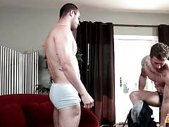 Trying gay sex with next door twink