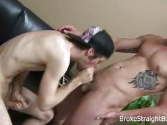 Cock sucking broke boys blake and ty