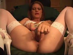 Amateur monster dildos squirt and self fisting part 2