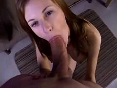 Nice amateur redhead suck and fuck with huge cumshot
