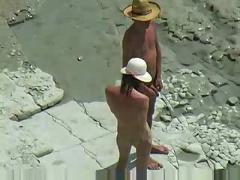 beach, public nudity