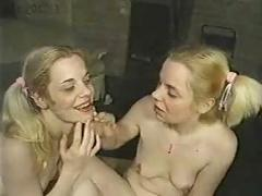 Two blond twins sucks and fucks
