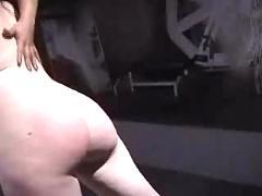Interracial lesbian spanking