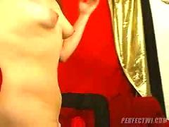 Pretty milf trying deepthroat.f70