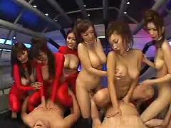 6 japanese girls attack bad guy 2