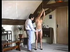 Naughty girl is used and abused