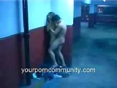 Couple caught fucking in parking lot