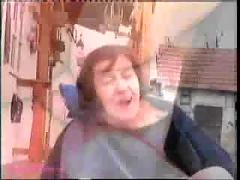 Crazy old mom fucked by younger guy