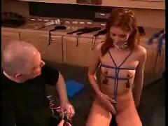 Daddy subdues his daughter