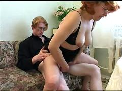Russian mom and boy 150