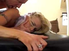 Cute blonde gets a very hard assfuck