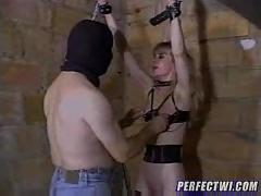 Spanked and fucked slave