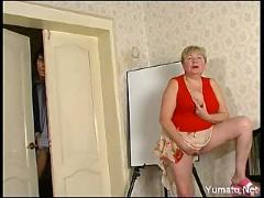 Russian granny and boy 143