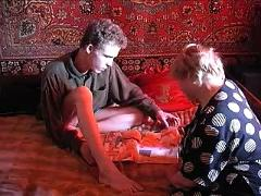 Russian granny and boy 067
