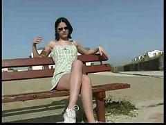 18yo teen decibelle nude in public street