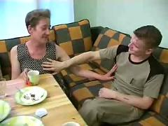 Russian granny and boy 100