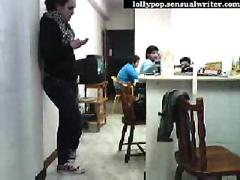 Portugese students fool around on webcam