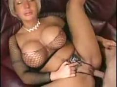 Mom with huge tits in fishnets sm65
