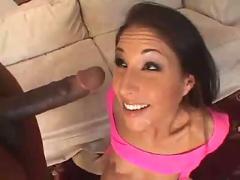Hot latin babe  banging her first big black bone...f70