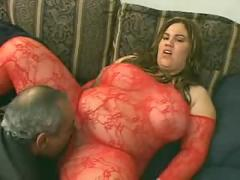 Huge slut eats dark meat ( bbw 18 sex )