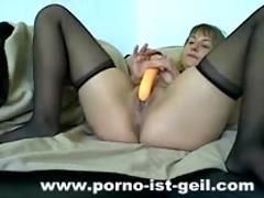 Bbw loves her orange dong ( bbw 18 sex )