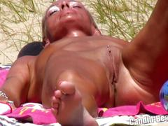 Sexy nude horny milfs tanning naked beach voyeur hd videospy