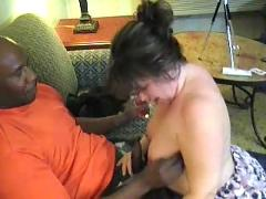 Horny bbw trys real dark meat for the first time ( bbw 18 sex )
