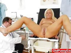 fetish, toys, milf, examination, check-up, doctor, pussy, enema, mature, mom, wife, gyno, adult-toys, mother, kink, oldpussyexam, blonde, small-tits