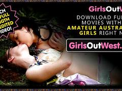 Girls out west - cute young lesbians make love