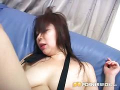 asian, big tits, brunette, hairy pussy, hardcore,