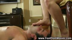 Femdom slave gets trampled with feet