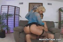 Hot blonde milf gets banged by a big dick