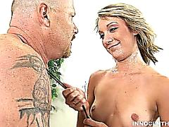 Blonde amy blows her coachs cock
