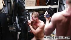 Pay money to eat boy cum and tiny gay cock blowjob dungeon sir with a gimp