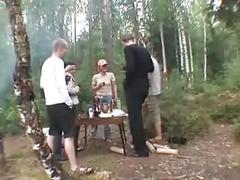 Outdoor - russian swingers anal creampie & facials