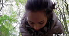 Czech girl pounded in the park for money pov