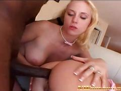 Anal threesome for two blonde girls and a big black dick