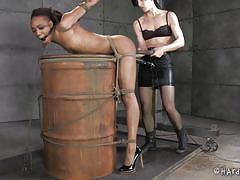 Ebony beauty tortured