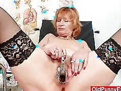 mature, strip, oldpussyexam.com, gyno, granny, milf, red head, hairy pussy, natural tits, big booty, speculum, enema, nylons