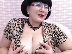 Mature milf teasing on web cam big breast