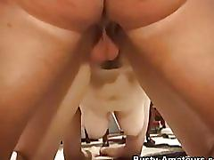 hardcore, busty amateurs.com, big tits, big boobs, doggy style, reverse cowgirl, blonde, frizzy hair